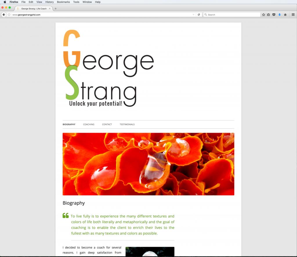 George Strang PhD.
